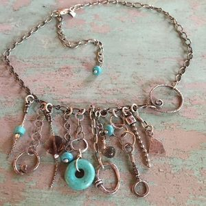 Silpada necklace sterling and turquoise retired